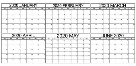 january  june  calendar template    world  calendars