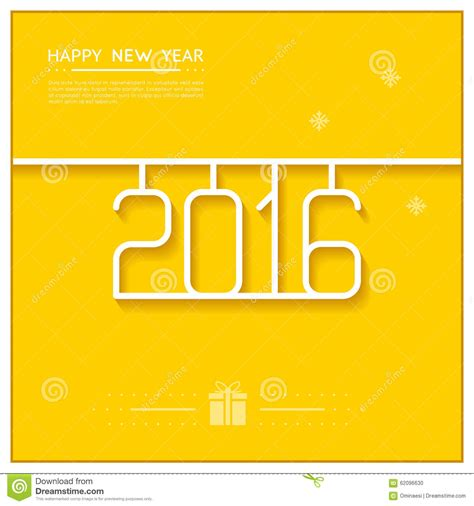 new year line new year poster 2016 line design vector stock vector