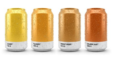 pantone paint cans pantone color beer cans show the color of brew inside