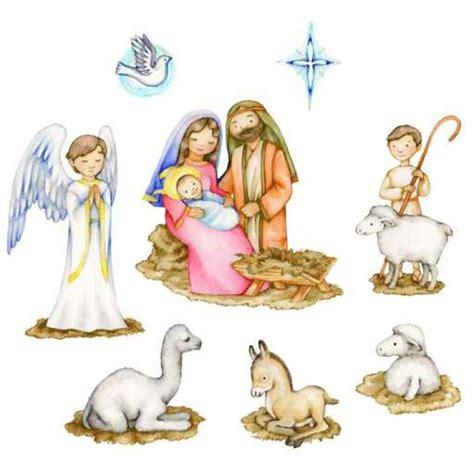 clipart presepe adesivo pixerstick illustrazione un acquerello per bambini