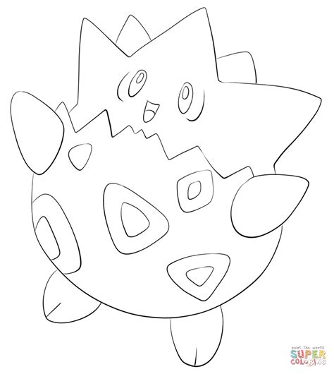 togepi coloring page free printable coloring pages