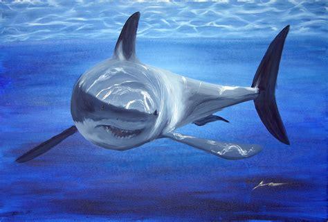 shark painting shark 171 antemortem arts custom paintings