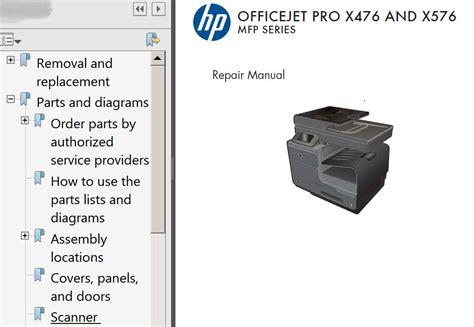 reset hp officejet pro x576dw hp officejet pro x476 officejet pro x576 repair manual