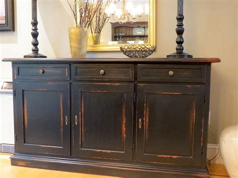 kitchen sideboard ideas made black barn wood buffet with distressed multi color rub through by ecustomfinishes