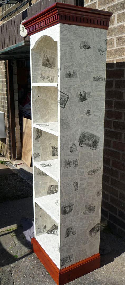 Decoupage Bookshelf - decoupage bookcase the forgotten library