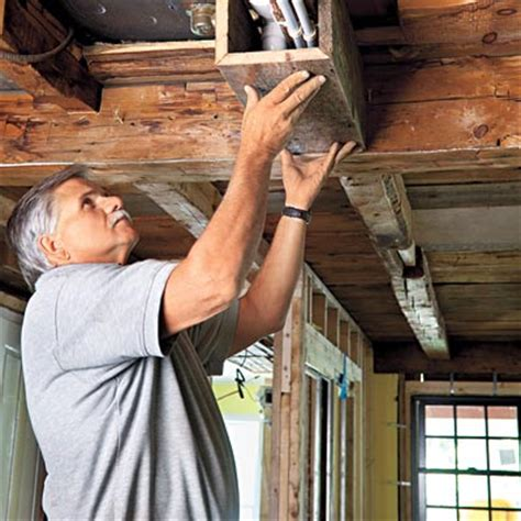 How To Cover Beams On Ceiling by How To Build Box Beams