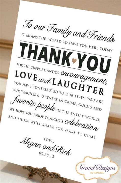 Thank You Card Wedding Gift - wedding the guest and receptions on pinterest