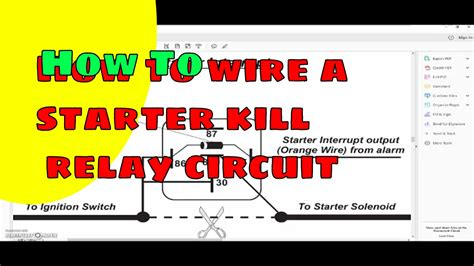 how to wire a starter kill circuit relay
