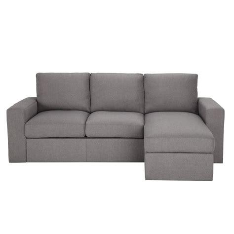 maison du monde sofa sof 225 de esquina de 3 plazas fijo gris jules maisons du