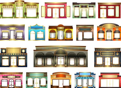 home design shop online uk free illustration stores store fronts set building