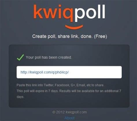 poll create create poll for free with kwiqpoll