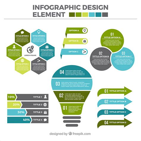 infographic element layout 30 templates vector kits to design your own infographic