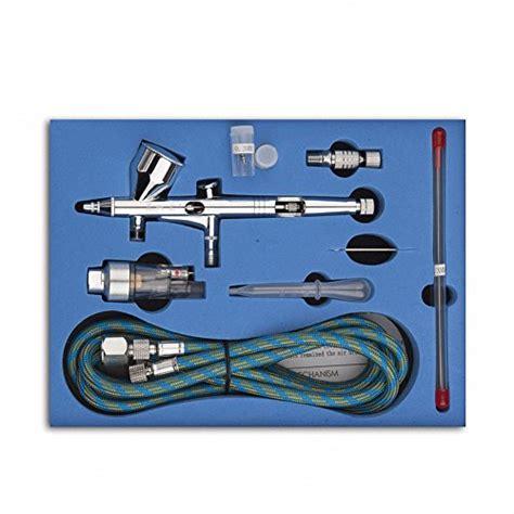 Airbrush Set Alat Air Brush Spray Gun Dual Make Up Brush cnualv 180k airbrush kit dual air brush kit spray gun air hose with 0 2mm 0 3mm 0 5mm
