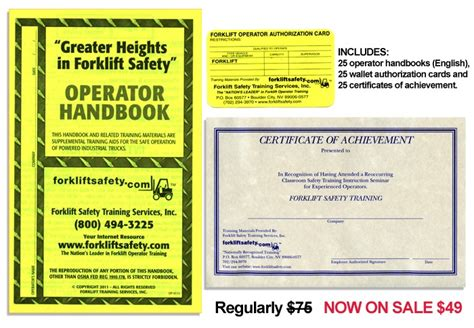 operator manual template forklift certification card images certificate design