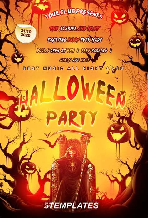 template photoshop halloween download halloween party flyer psd template photoshop