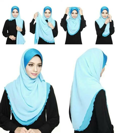 tutorial hijab pashmina simple anggun 1000 images about hijab tutorials on pinterest simple