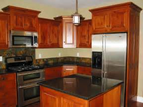 Picture Of Kitchen Cabinets Kitchen Remodeling Cherry Wood Kitchen Cabinets Black Granite Counters Cidar Construction