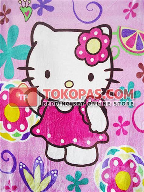 Selimut Bulu Dewasa Bunga Bunga selimut warna warni bulu murah