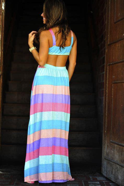 Rainbow Maxy Dress maxi dresses maxi dresses rainbow