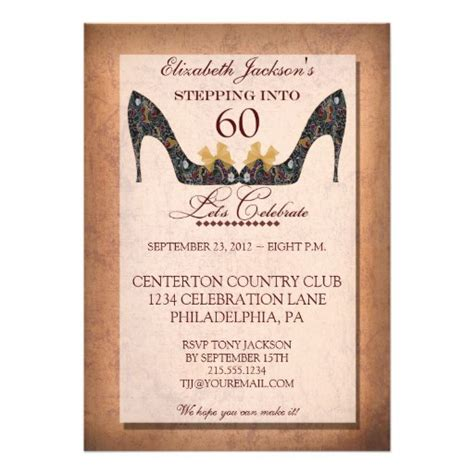 60 birthday invitation templates 20 ideas 60th birthday invitations card templates