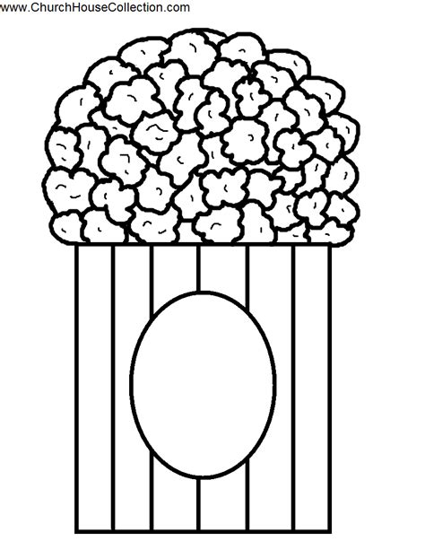 popcorn coloring pages download print free