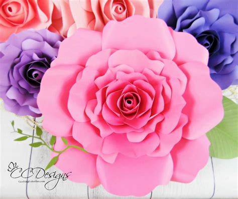 rose paper flower pattern giant paper rose patterns tutorials diy rose flower