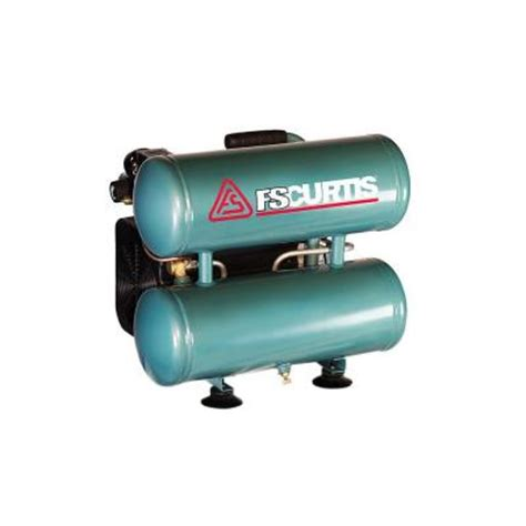 fs curtis 4 gal 2 hp portable electric 120 volt electrical stack air compressor