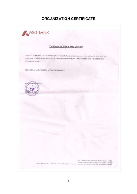 Axis Bank Letterhead Format 100 Summer Offer Letter Format Business Letter Format 32 Sle