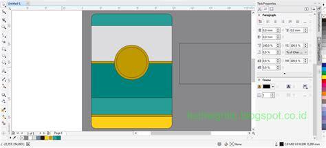 cara membuat id card menggunakan coreldraw x4 tutorial membuat id card modern vertikal menggunakan