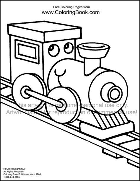 free number train coloring pages