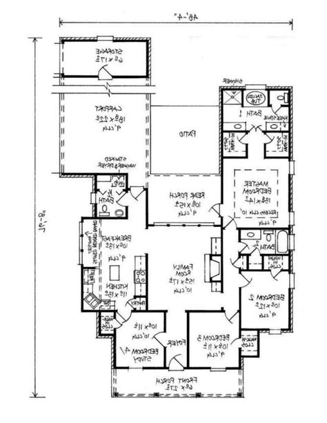 simple 4 bedroom house plans simple four bedroom house plans bellaoutfits fresh