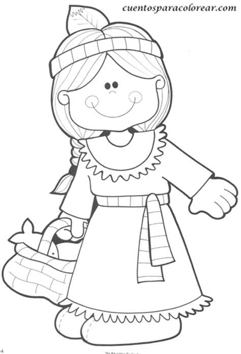 little girl pilgrim coloring page dibujos para colorear indios