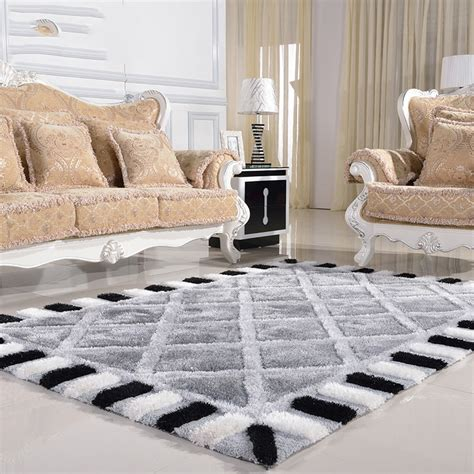 and white checkered sofa modern minimalist living room carpet thickened bedroom rug
