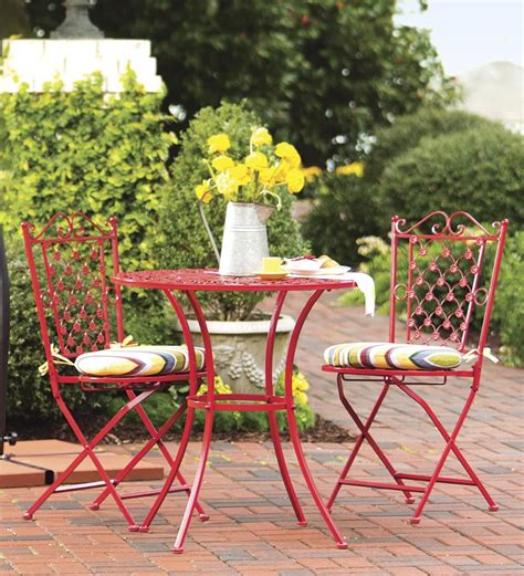 Garden Treasures Bistro Chair Bistro Outdoor Set Dining Table Chairs Patio Folding Furnitu Patio Dining Chairs Set Of 6 Home