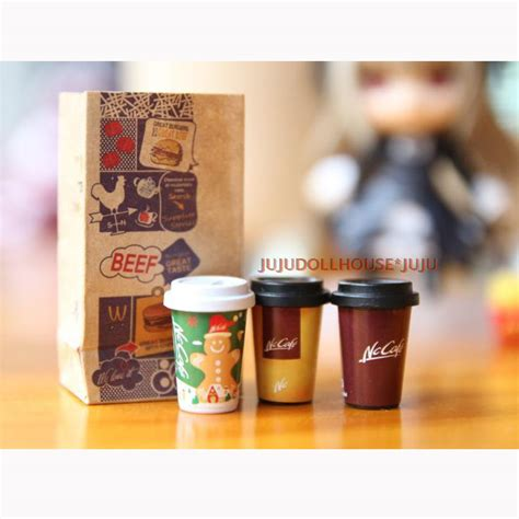 dollhouse 1 6 scale 1 set 1 6 scale dollhouse miniature coffee cups miniatura
