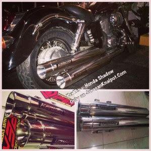 Knalpot Slipon Harley Davidson Model Rinehart Fullblack And Chroem kerker muffler slip on for honda shadow knalpotharley
