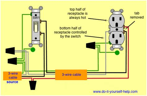 switched outlet wiring diagram wiring diagrams for switch to a wall receptacle do it yourself help