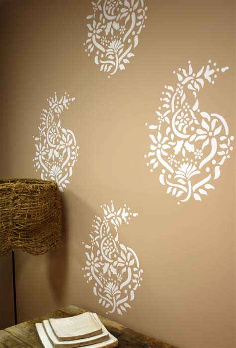 Pattern Wall Painting Ideas | paisley pattern cool wall painting designs