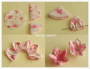 Material Flowers Diy - diy fabric flowers so simple and easy