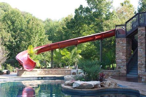 backyard pool water slide 20 backyard swimming pool ideas with water slides