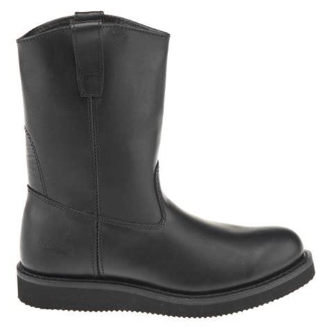 black wellington boots mens brazos 174 s wellington black work boots academy