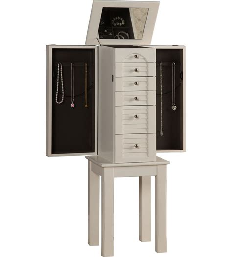 jewelry armoire white white jewelry armoire in jewelry armoires