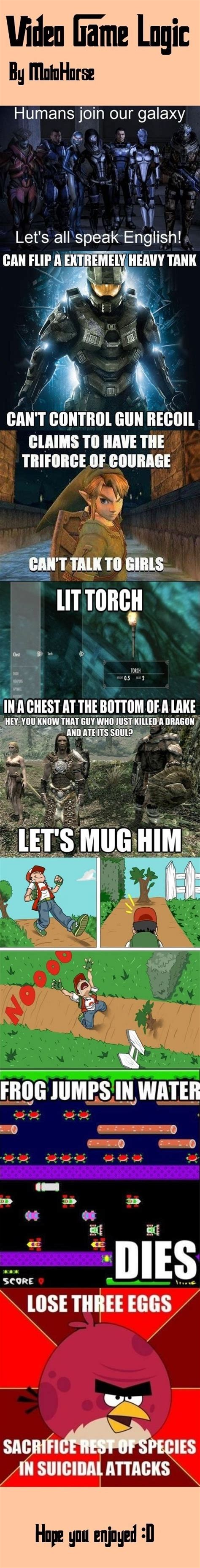 Game Logic Meme - funny video game logic memes jpg