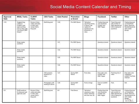 social media content plan template social media engagement plan exle