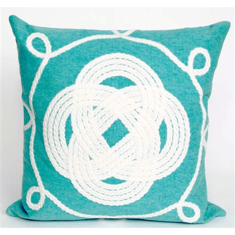 knot pillows aqua knot pillow
