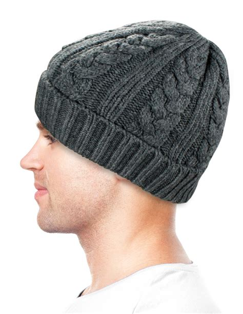 mens cable knit beanie s cable knit solid color wool blend beanie hat