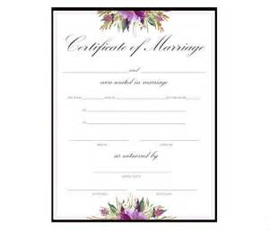marriage certificate templates wedding certificate template formal marriage certificate