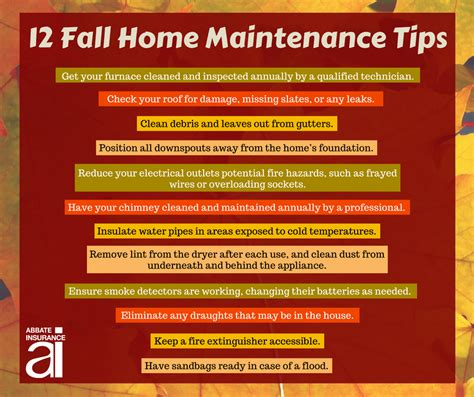 tips home 12 fall maintenance tips for your home abbate insurance