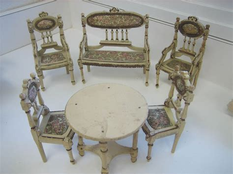 Antique Doll Furniture by Small Doll Antique German Miniature Doll House Ornate Wood