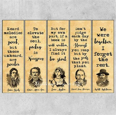 printable literary quotes authors quotes bookmarks literary bookmarks printable